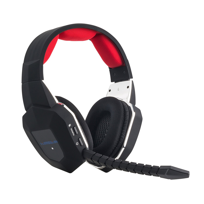 HAMSWAN Auriculares Gaming Inalambricos 2.4 Ghz