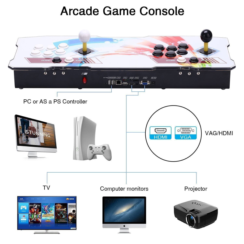[2000 juegos clásicos] Consola de videojuegos, SeeKool Pandora's Box 6 Multijugador