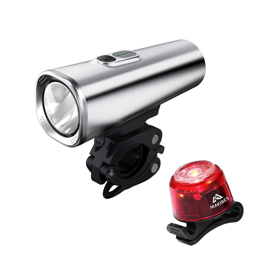 Luz de Bicicleta LED,Luz Bicicleta Delantera,Juego de Luces para Bicicleta Makibes Linterna Delantera Recargable USB