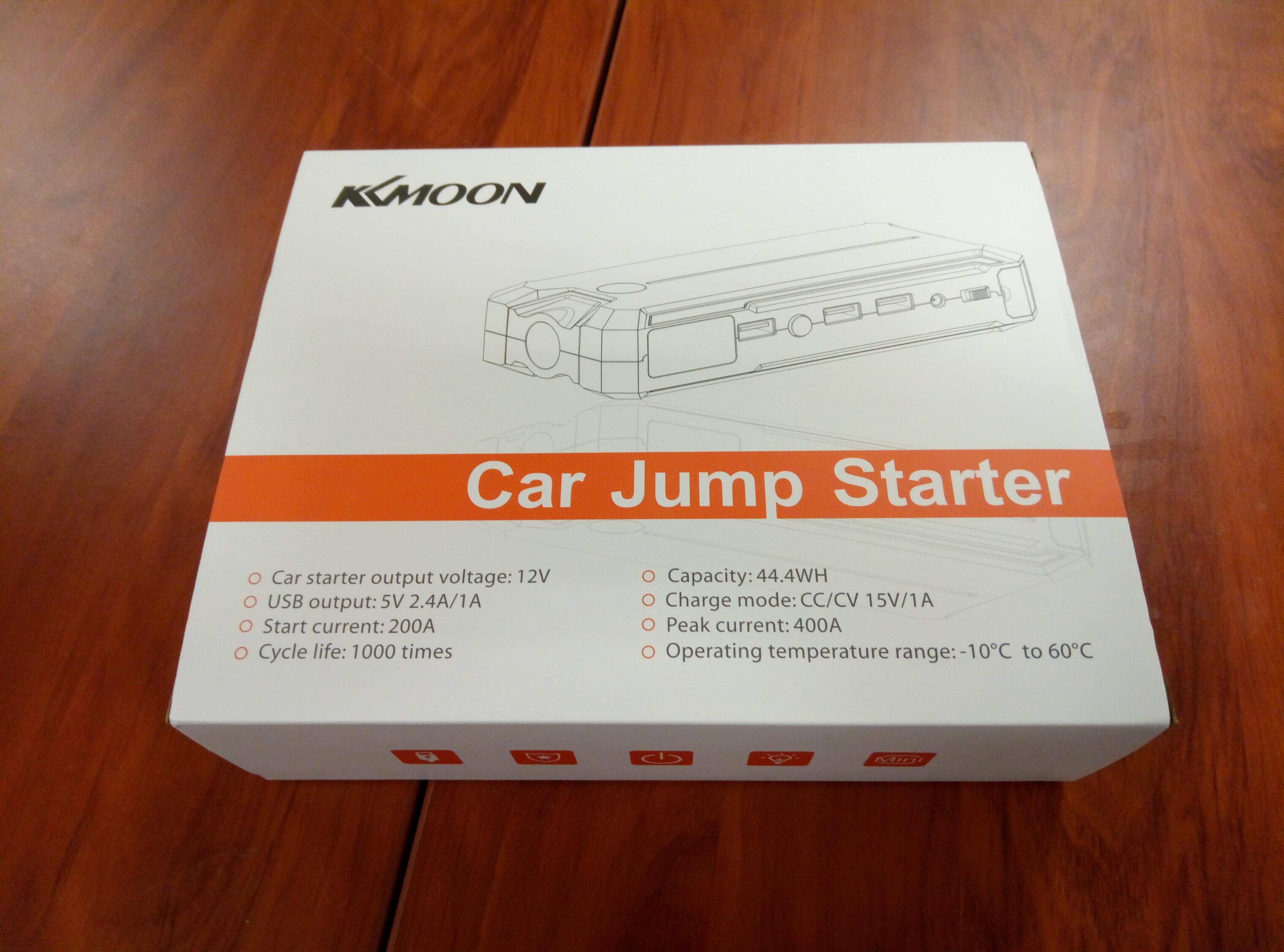 KKmoon – 12000mAh Jump Starter Arrancador Portatil