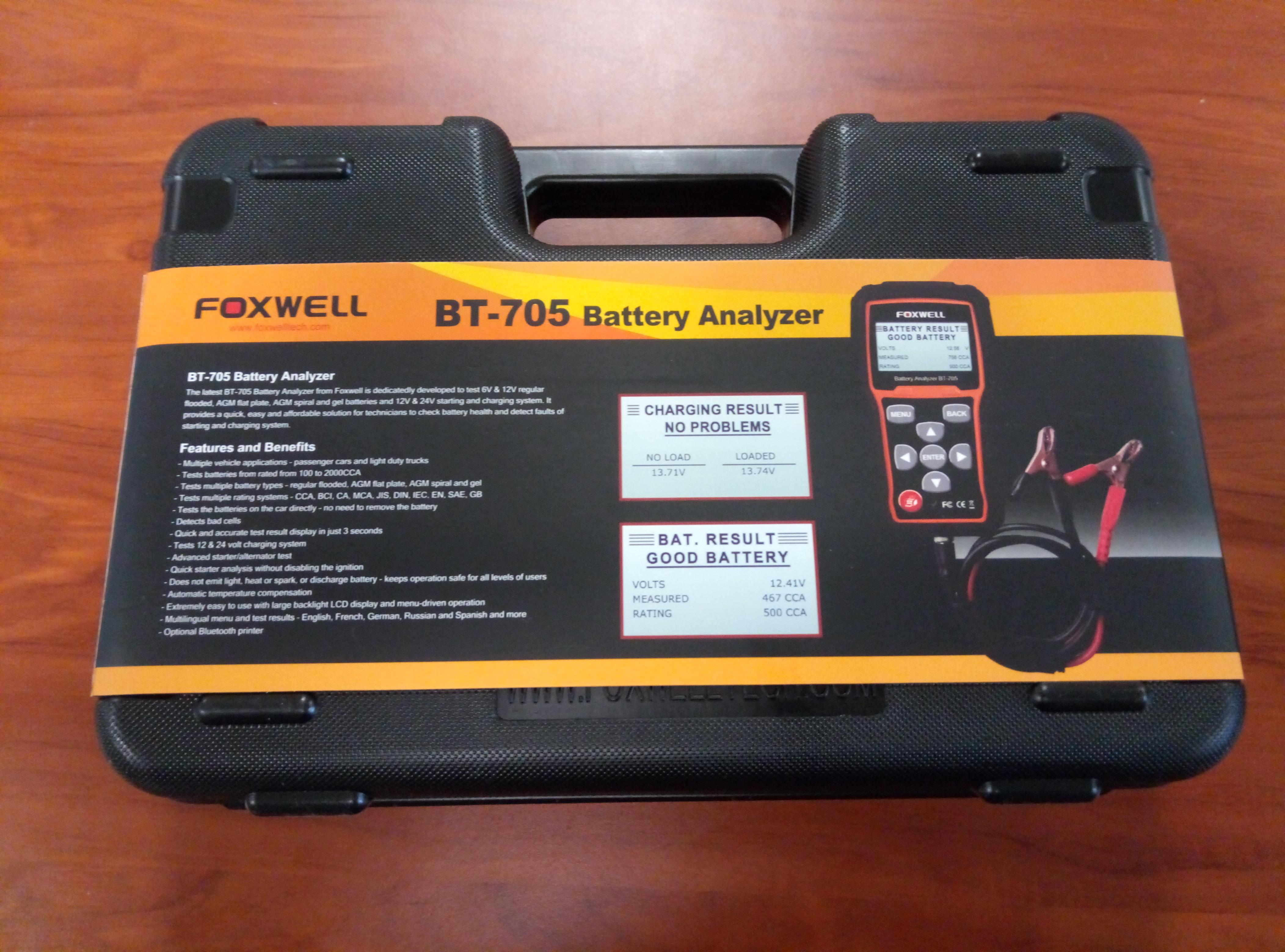 FOXWELL BT-705 – Analizador de Batería 12V/24V Diagnóstico Tester