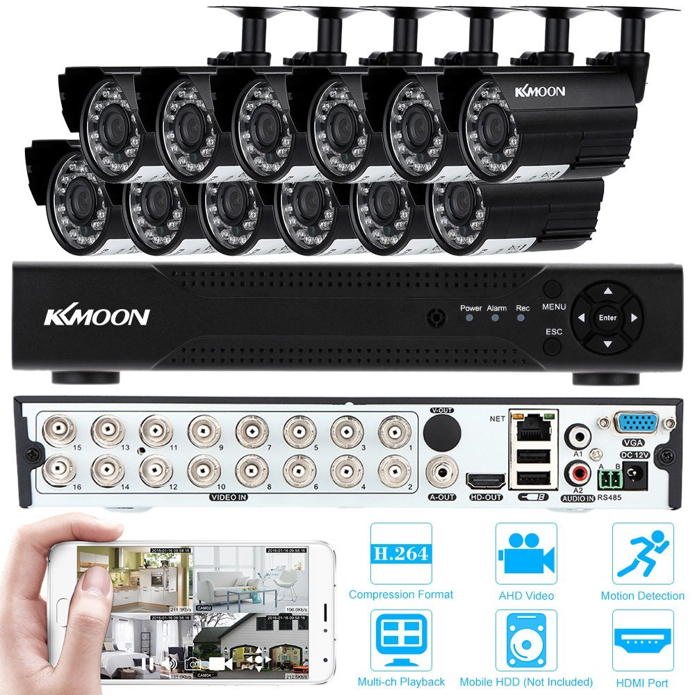 KKmoon Kit Sistema de Seguridad CCTV