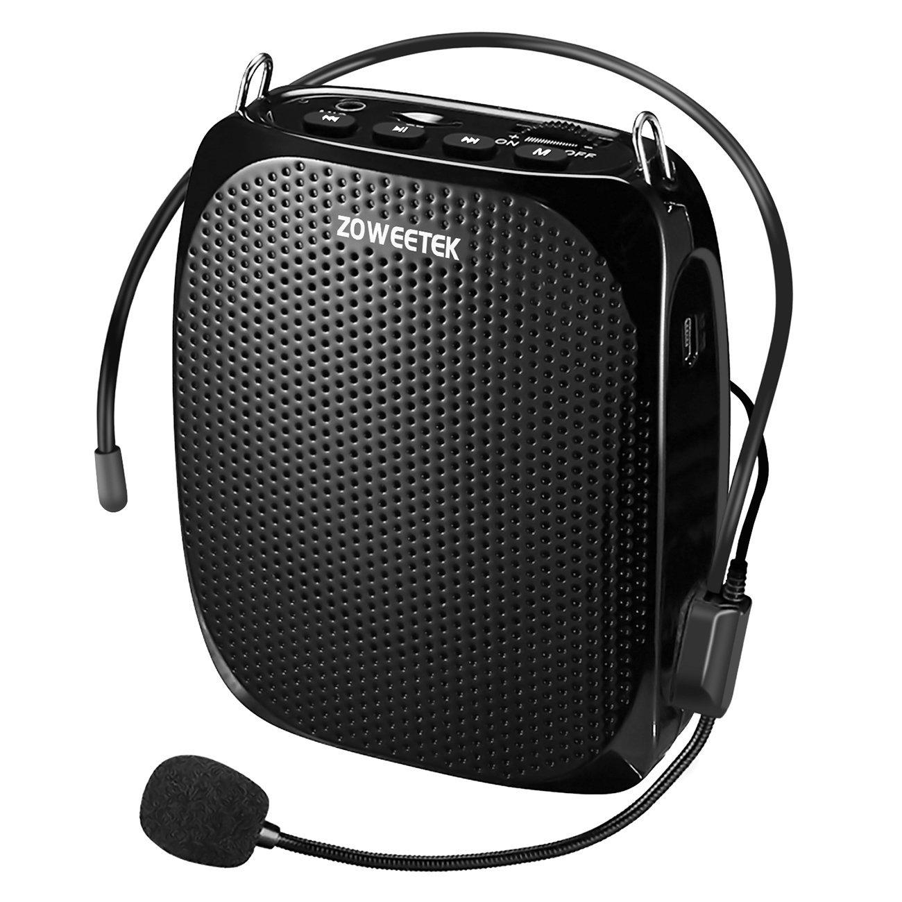 Zoweetek® Amplificador portatil (10W) con 1800 mAh batería de litio con un micrófono